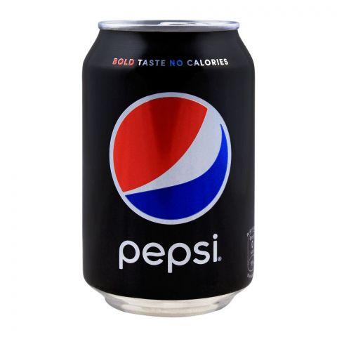 Pesp Black, Bold Taste No Calories, Can (Local), 300ml