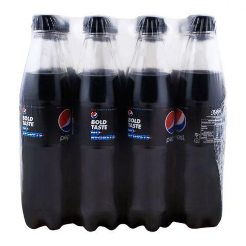 Pepsi Black, Bold Taste No Calories, Pet Bottle, 345ml, 12 Pieces