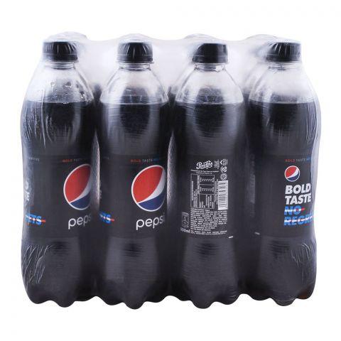 Pepsi Black, Bold Taste No Calories, Pet Bottle, 500ml, 12 Pieces