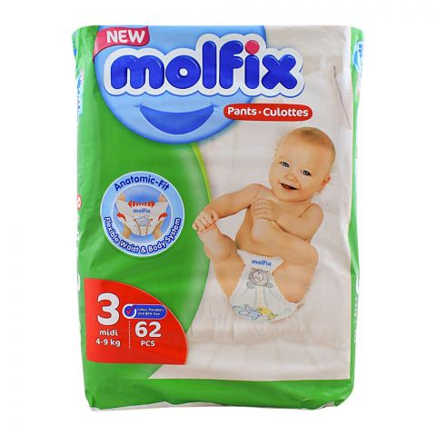 Molfix Pants No. 3, Midi, 4-9 KG, 62-Pack
