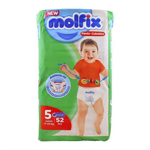 Molfix Pants No. 5, Junior, 11-25 KG, 52-Pack