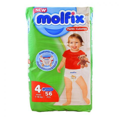 Molfix Pants No. 4, Maxi, 7-18 KG, 56-Pack