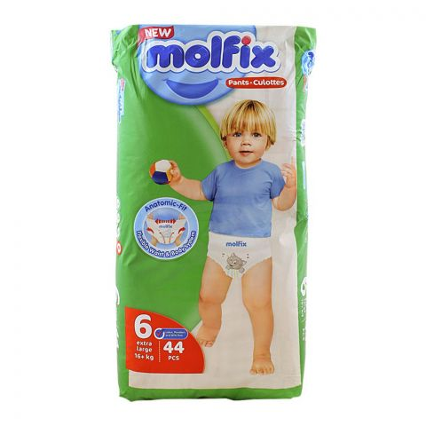 Molfix Pants No. 6, Extra Large, 16+ KG, 44-Pack