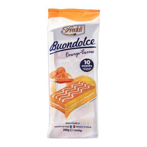 Freddi Buondolce Orange-Carrot Mini Cake, 10-Pack, 250g