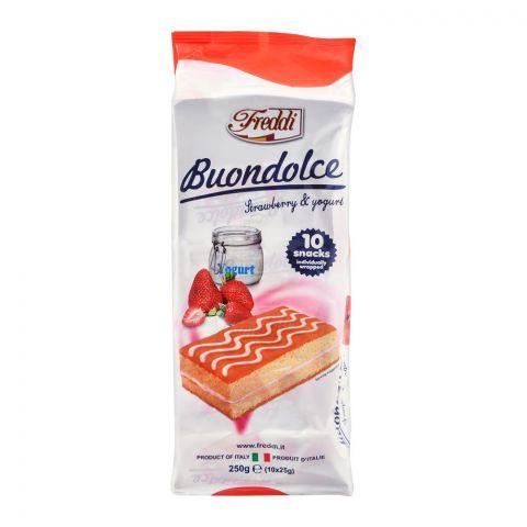 Freddi Buondolce Strawberry & Yogurt Cake, 10-Pack, 250g
