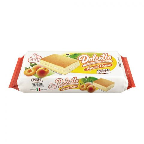 Freddi Dolcetto Apricot Cream Mini Cake, 8-Pack, 200g