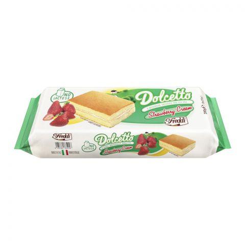 Freddi Dolcetto Strawberry Cream Mini Cake, 8-Pack, 200g