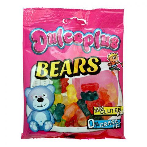 Dulceplus Bears Jelly, Gluten Free, Pouch, 100g