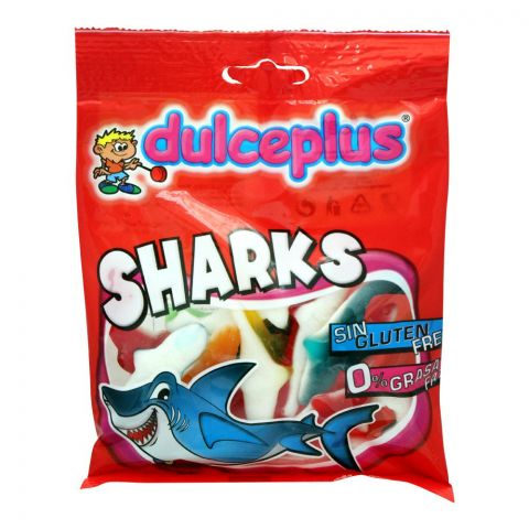 Dulceplus Sharks Jelly, Gluten Free, Pouch, 100g