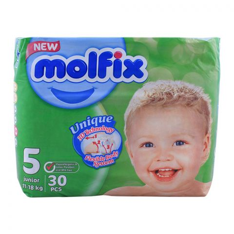 Molfix No. 5, Junior 11-18 KG, 30-Pack