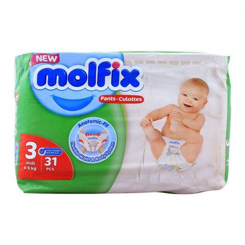 Molfix Pants No. 3, Midi 4-9 KG, 36-Pack