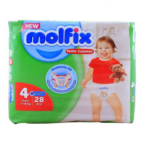Molfix Pants No. 4, Maxi 7-18 KG, 28-Pack