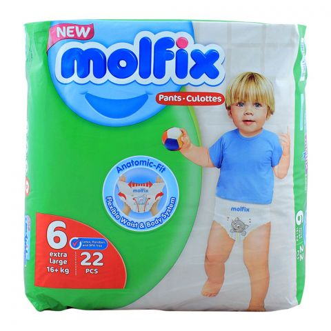 Molfix Pants No. 6, Extra Large 16+ KG, 22-Pack