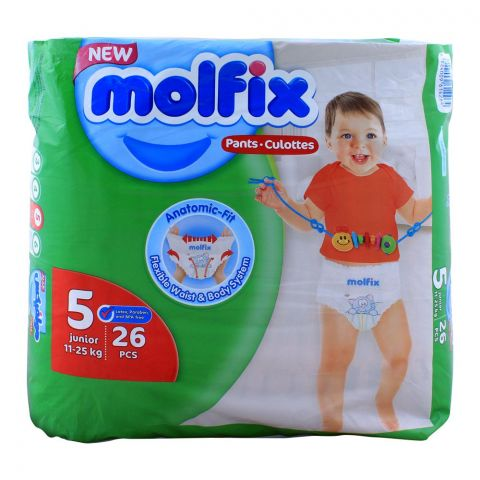 Molfix Pants No. 5, Junior 11-25 KG, 26-Pack