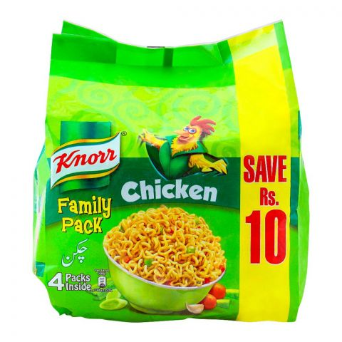 Knorr Noodles Chicken, 66g, Family Pack, 4 Pieces