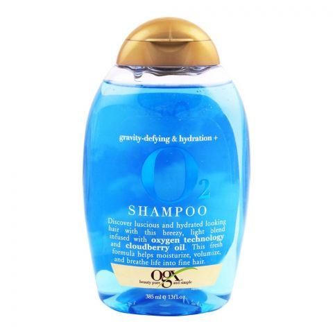 OGX Gravity-Defying & Hydration O2 Shampoo, Sulfate Free, 385ml