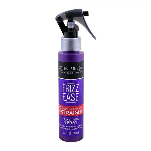 John Frieda Frizz-Ease 3Day Straight With Keratin Flat Iron Hair Spray 103ml