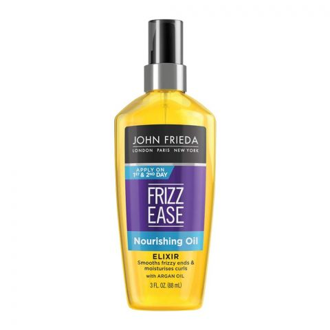 John Frieda Frizz-Ease Nourishing Oil, Elixir, With Argan Oil, 88ml