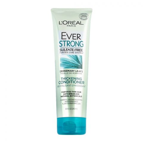 L'Oreal Paris Ever Strong Rosemary Leaf Thickening Conditioner, Sulfate Free, 250ml