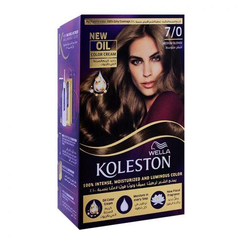 Wella Koleston Color Cream Kit, 7/0 Medium Blonde