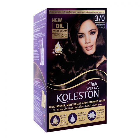 Wella Koleston Color Cream Kit, 3/0 Dark Brown