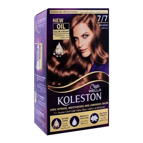 Wella Koleston Color Cream Kit, 7/7 Deer Brown