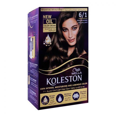 Wella Koleston Color Cream Kit, 6/1 Dark Ash Blonde
