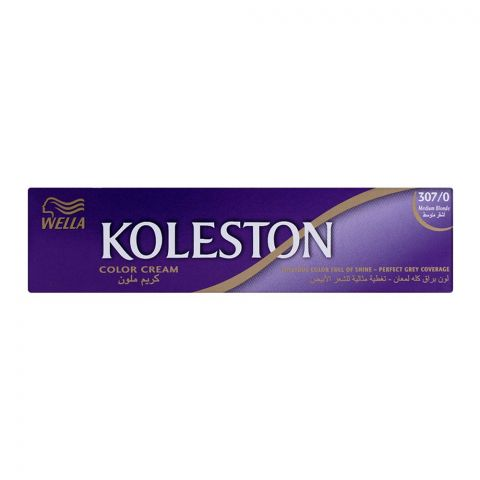 Wella Koleston Color Cream Tube, 307/0 Medium Blonde, 60ml