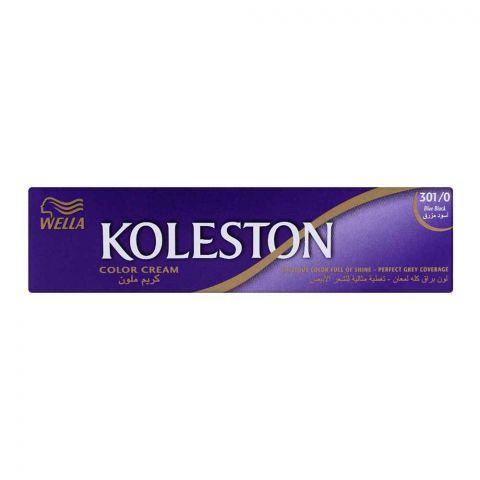 Wella Koleston Color Cream Tube, 301/0 Blue Black,  60ml