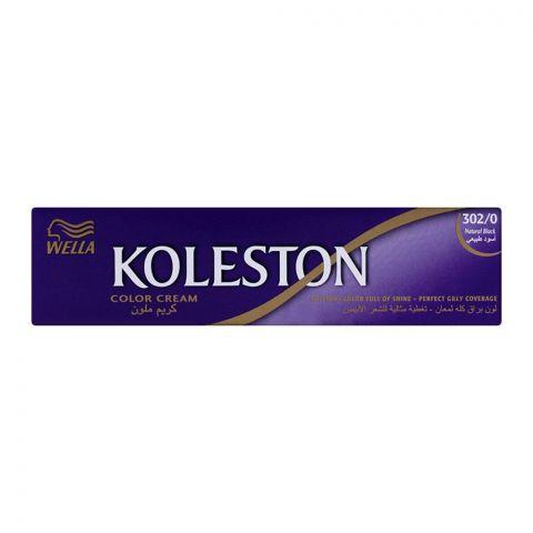 Wella Koleston Color Cream Tube, 302/0 Natural Black, 60ml