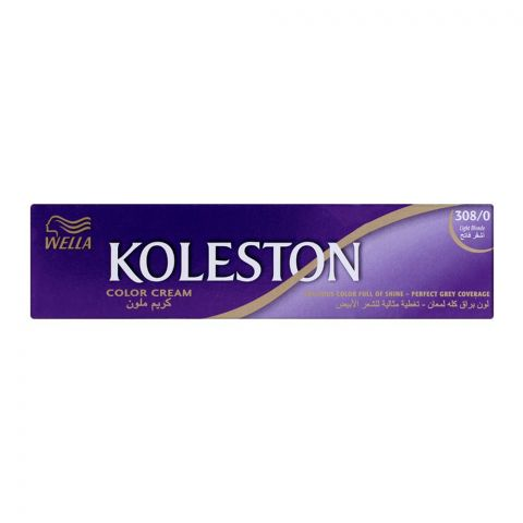 Wella Koleston Color Cream Tube, 308/0 Light Blonde, 60ml