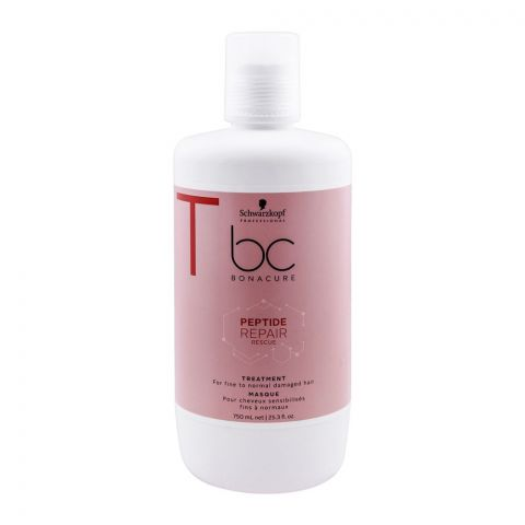 Schwarzkopf BC Bonacure Peptide Repair Rescue Treatment Masque, 750ml