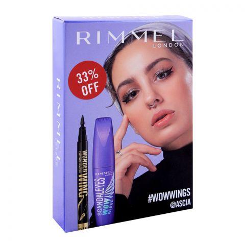 Rimmel Scandaleyes Wow Wings Mascara + Wonder Eyeliner, 33% OFF