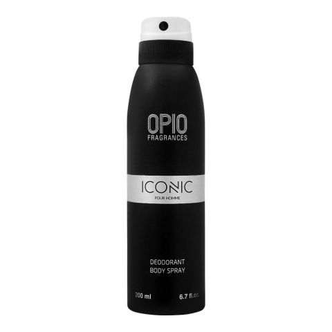 Opio Iconic Pour Homme Deodorant Body Spray, For Men, 200ml