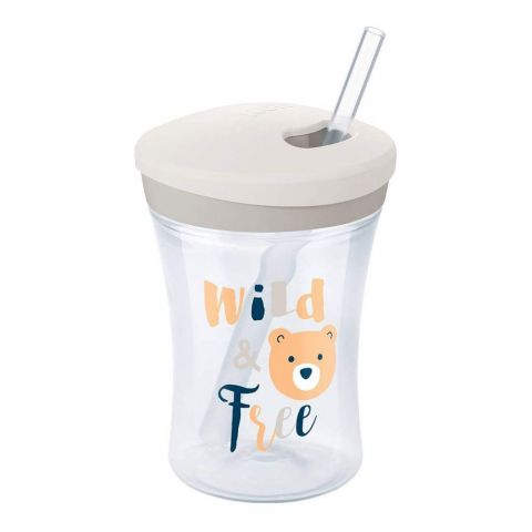 Nuk Wild & Free Action Cup, Grey, 12m+, 230ml, 10255391