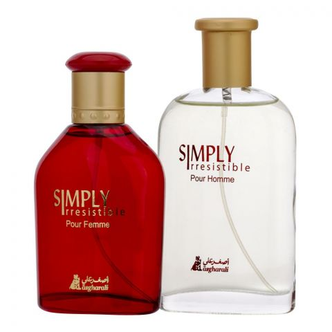 Asgharali Simply Irresistible Eau De Parfum Set, Fragrance For Men & Women, 100ml +100ml