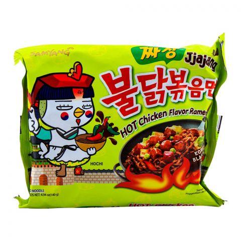 Samyang Jjajang Hot Chicken Flavor Ramen Noodle, 140gm