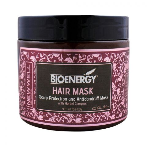 Bioenergy Scalp Protection And Antidandruff Hair Mask With Herbal Complex, 500ml