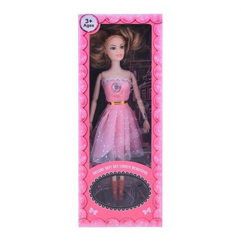 Live Long Doll Gift Set Box, Pink Dress, 2271-4