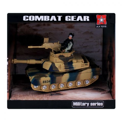 Live Long Army Combat Tank, Yellow, 6634A-Y