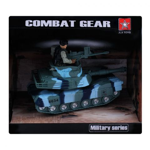 Live Long Army Combat Tank, Green, 6634A-G