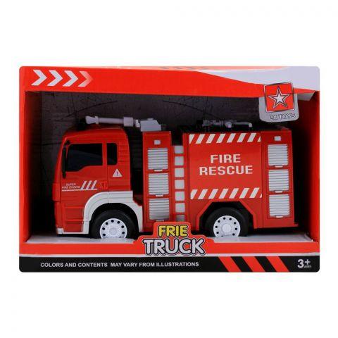 Live Long Fire Brigade Friction Truck, 6639A