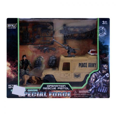 Live Long Army Vehicle With Accessories, 6643A