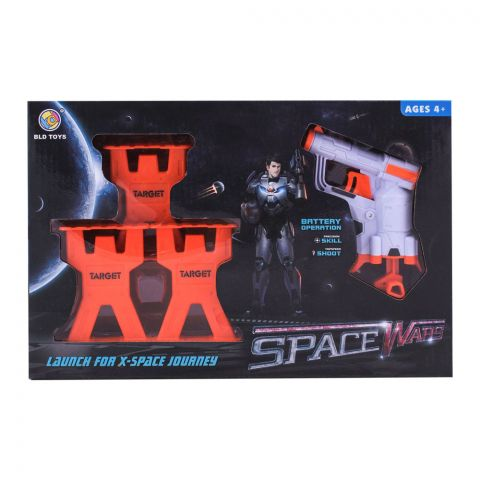 Live Long Space Wars Bullet Gun With Targets, B3213
