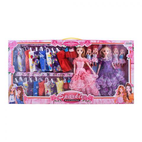Live Long Double Doll With Multicolour Dresses, JJ8602