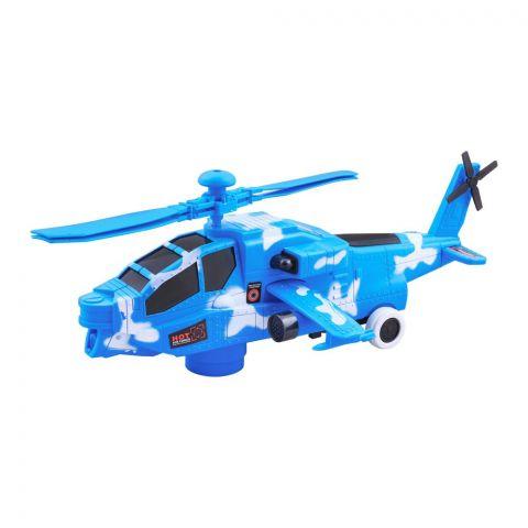 Live Long 3D Light & Sound Chopper, Blue, JYD171A-G