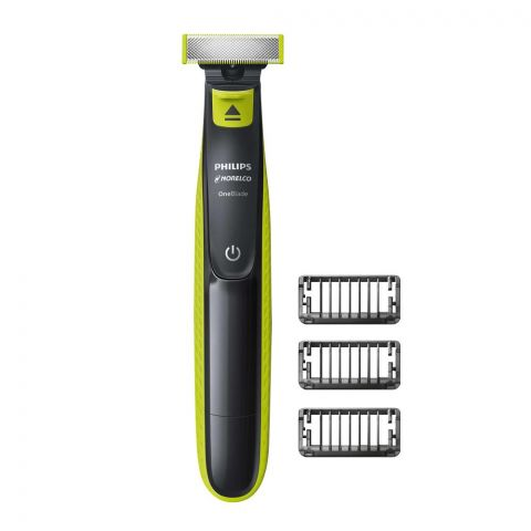 Philips Norelco OneBlade Hybrid Rechargeable Men's Electric Shaver and Trimmer, QP2520/90