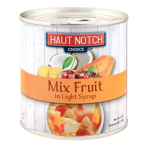 Haut Notch Mix Fruit, In Light Syrup, 425g
