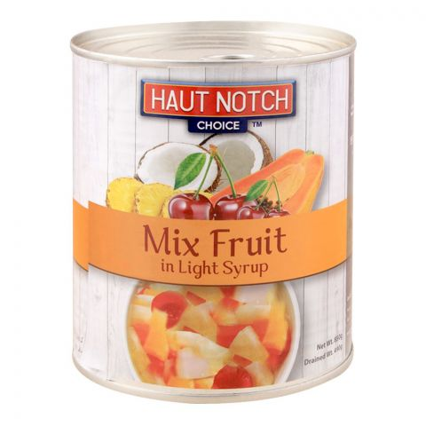 Haut Notch Mix Fruit, In Light Syrup, 850g
