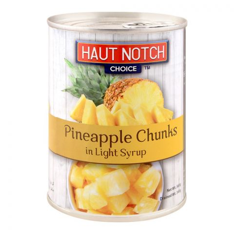 Haut Notch Pineapple Chunks, In Light Syrup, 565g